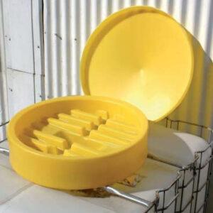 Tratt för spillolja i cipax-tank