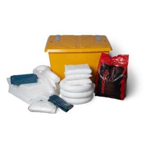 Spillkit med låda med absorbenter