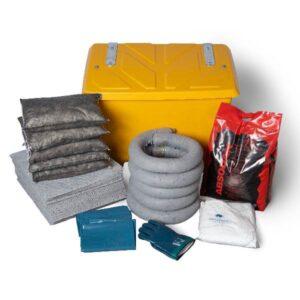 Låda med absorbenter