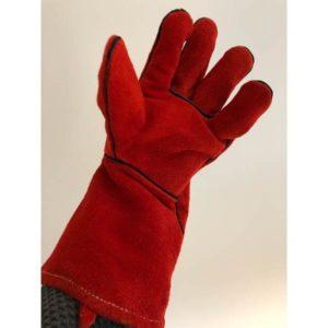 Röd handske för svetsning